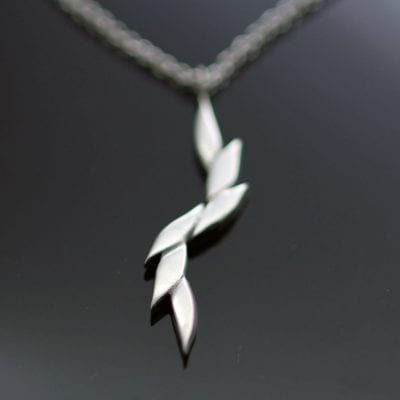 sterling silver contemporary necklace minimal design