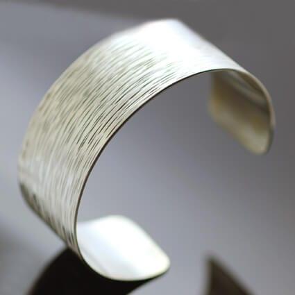 Sterling Silver statement cuff hand textured