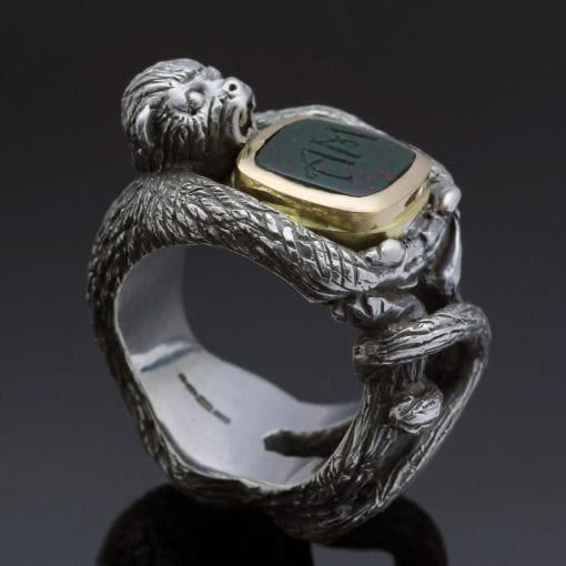Handmade fine jewellery mens ring