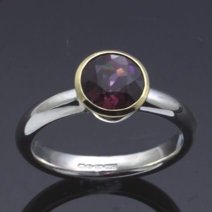 birthstone jewellery january garnet ring handmade