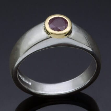 Modern Ruby handmade ring july birthstone jewellery