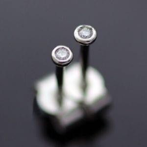 Round Brilliant Diamond Platinum modern stud earrings