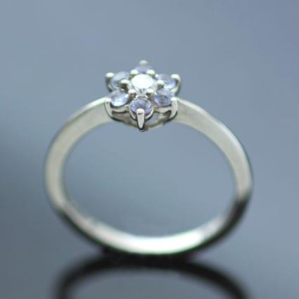 tanzanite gemstone diamond handmade engagement ring designs