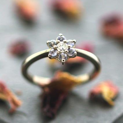 Handmade precious engagement ring designs modern unique