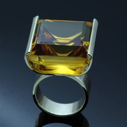 modern statement ring handmade