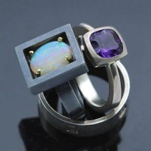 contemporary elegant handmade rings brighton goldsmith