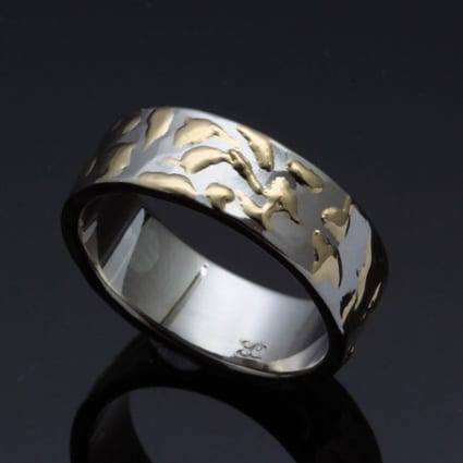 handcrafted unique bespoke wedding band brighton jeweller